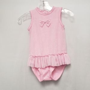 NWT Petit Lem Baby Pink Onesie with Ruffles